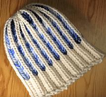 Loom Knit A Hat In A Bicolor Brioche Stitch