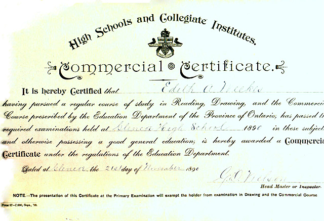 Leonard family official documents (diplomas, certificates, etc)