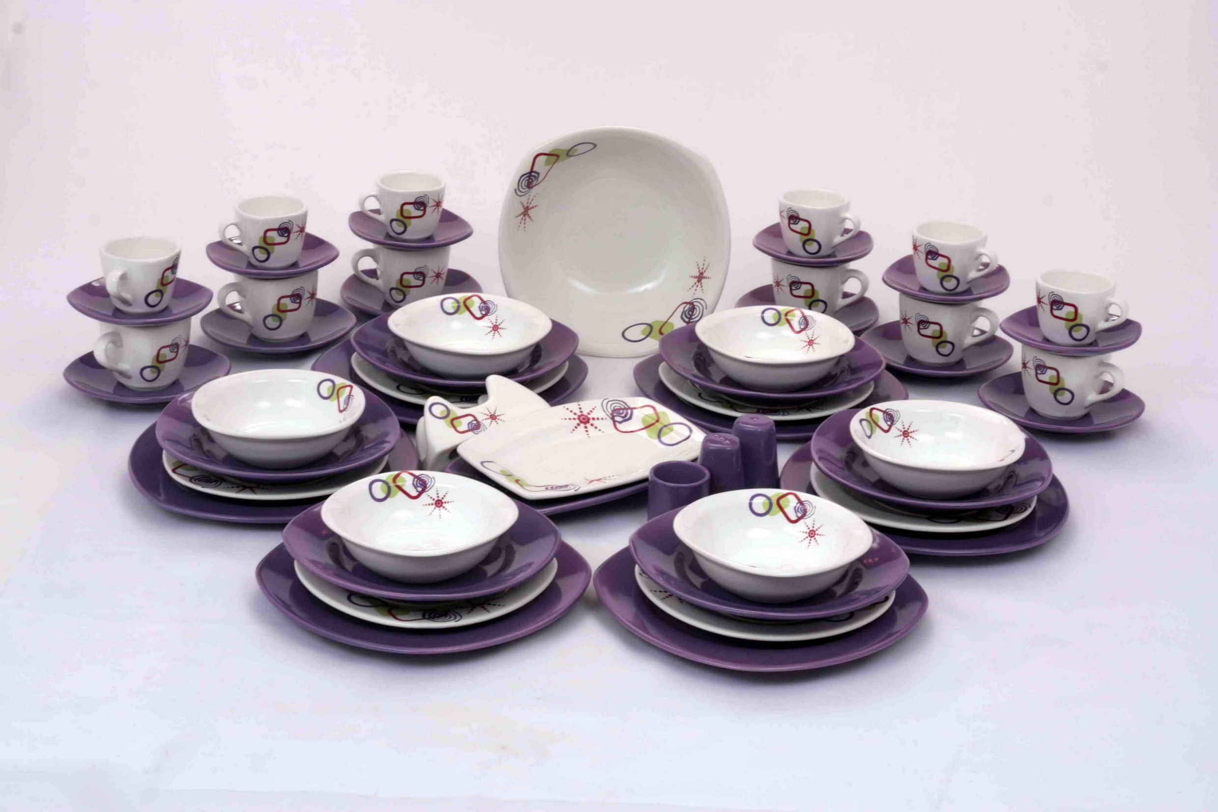 Dinner Set Realstate Decoration Attractive Looking Dinning With