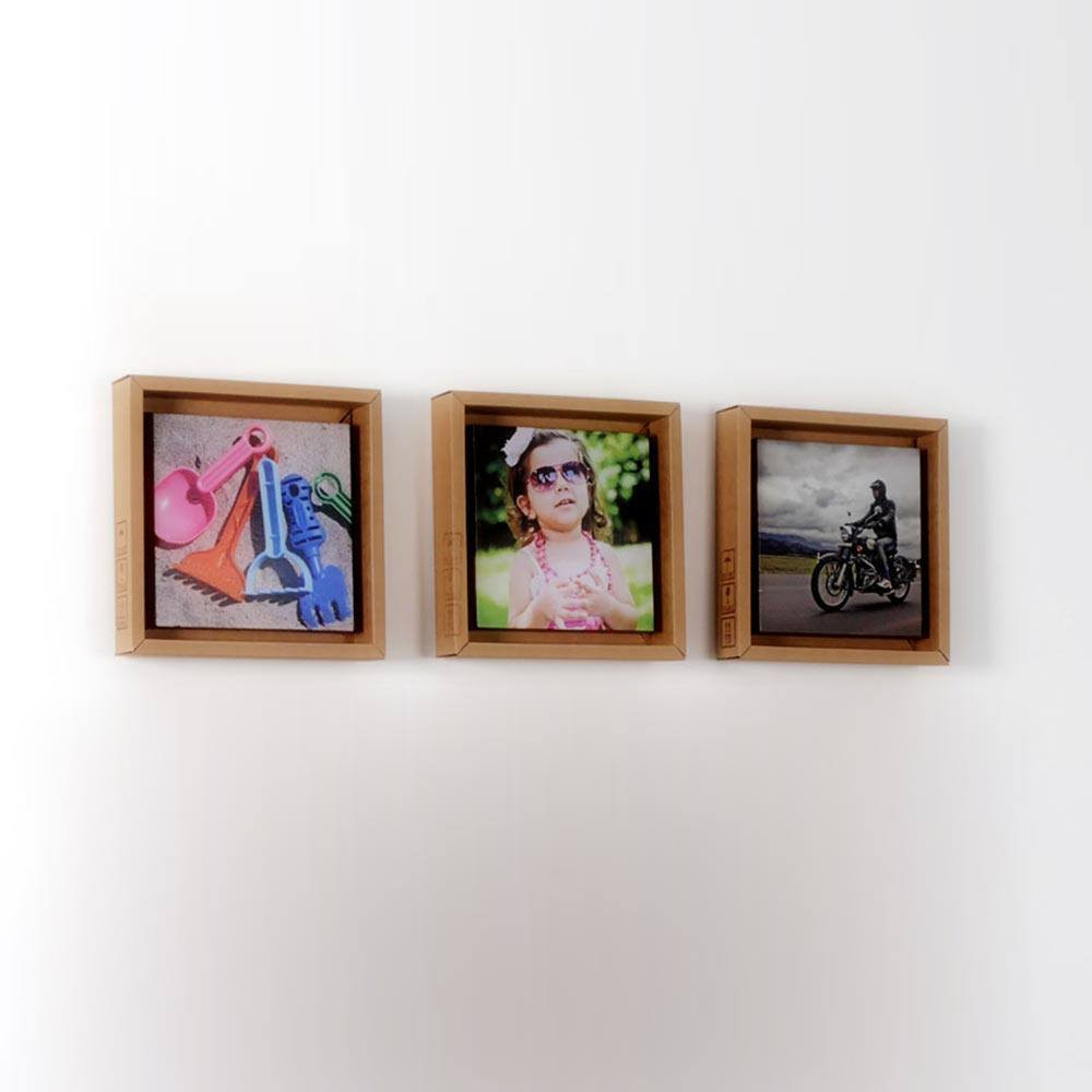 Bilderrahmen Aus Pappe Pappino Trio 3 Recycled Cardboard Photo Frames