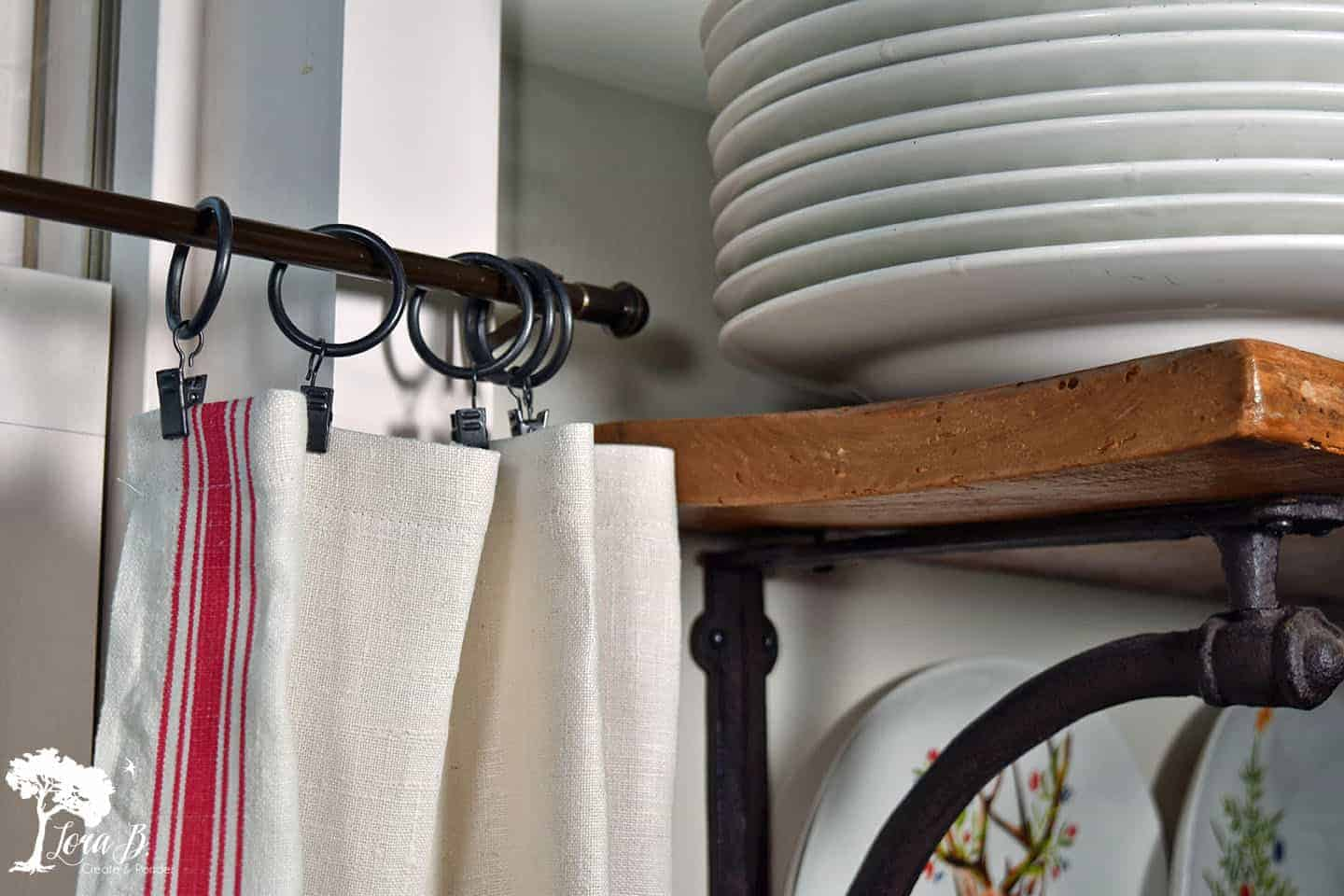 Cafe Curtain Clips Easy Diy Cafe Curtains Lora B Create Ponder