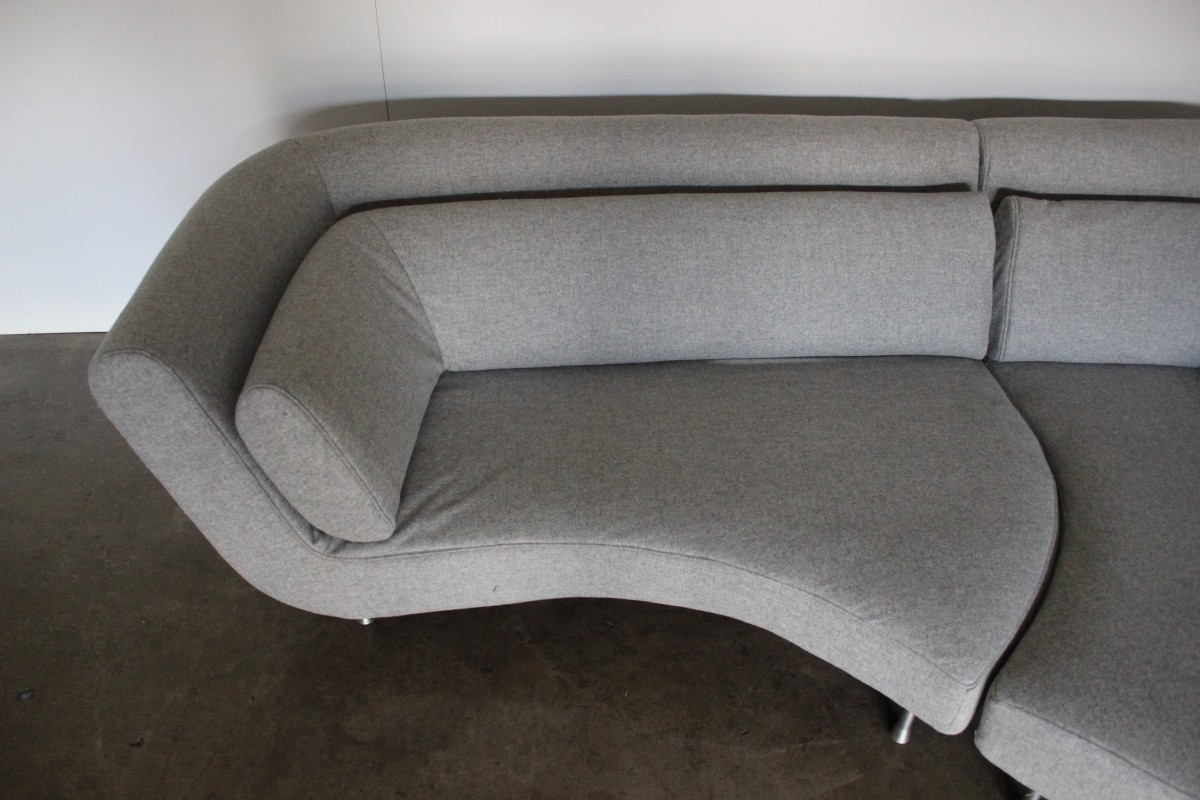 "Ligne Roset Yang Stunning Huge Ligne Roset ""yang"" Sectional Sofa In Pale"