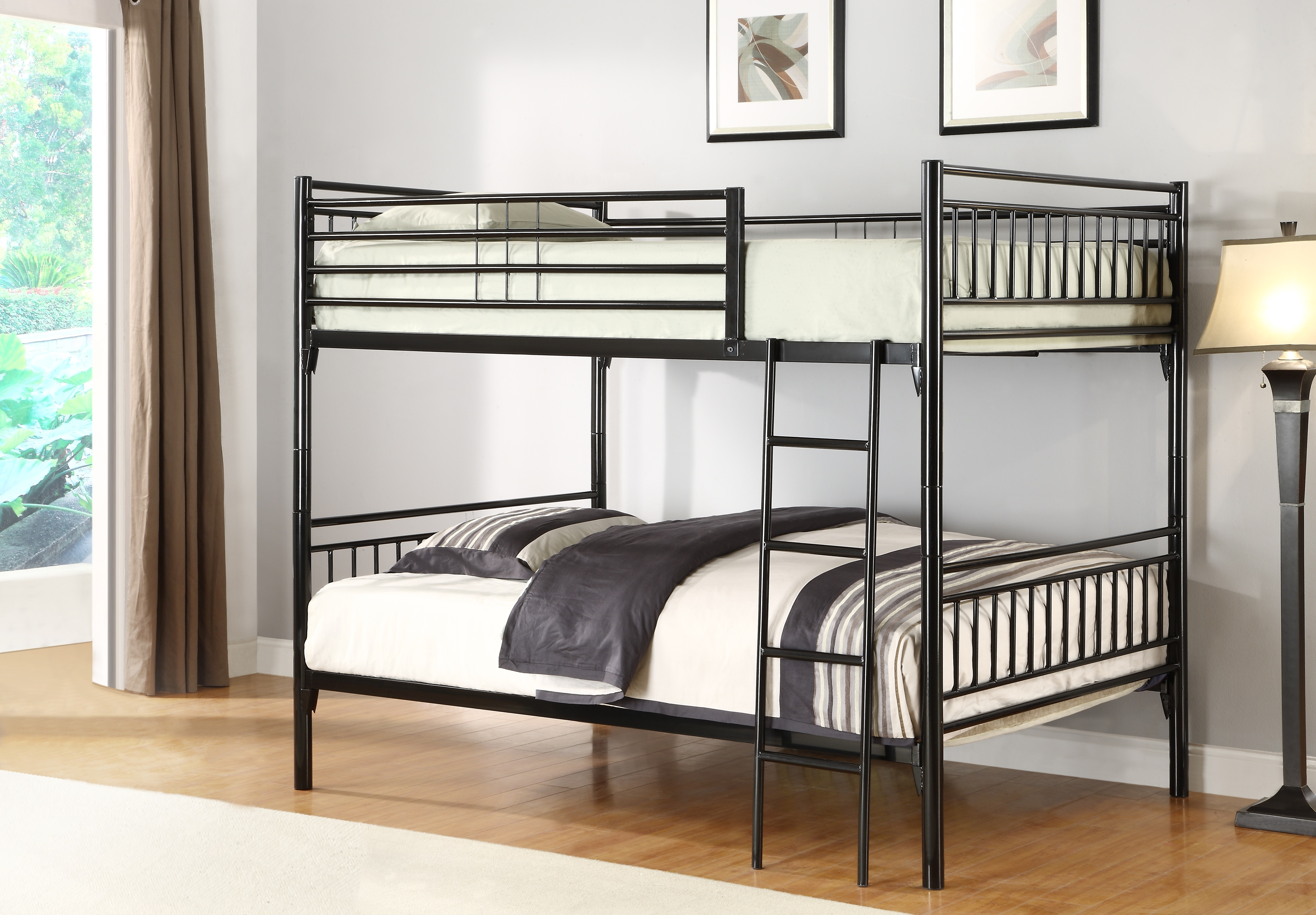 Saturn Bunk Bed Saturn Double Double Detachable Metal Bunk Bed In Black