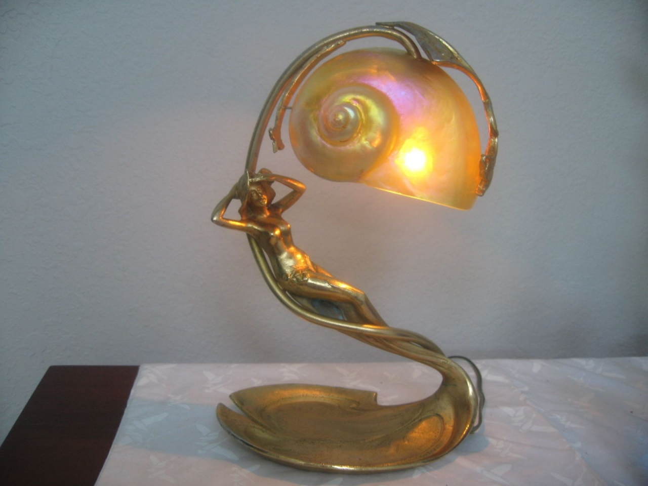 Art Deco Style & Light Art Deco Peacock Sculptural Floor Lamp Lorenzo Sculptures