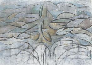 Mondrian, Melo in fiore