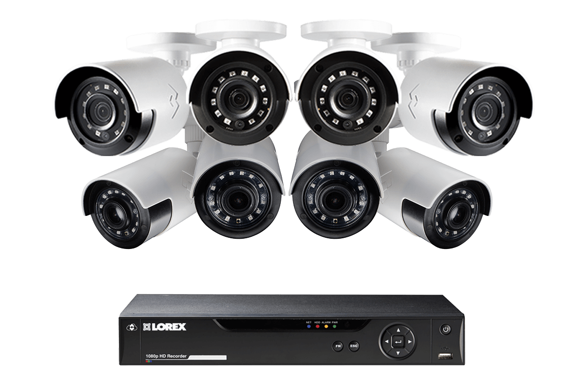 Camera De Surveillance Exterieur Occasion 1080p Camera System With 8 Outdoor Cameras 4 Wide Angle Cameras 160 Degree View And 4 Bullet Security Cameras