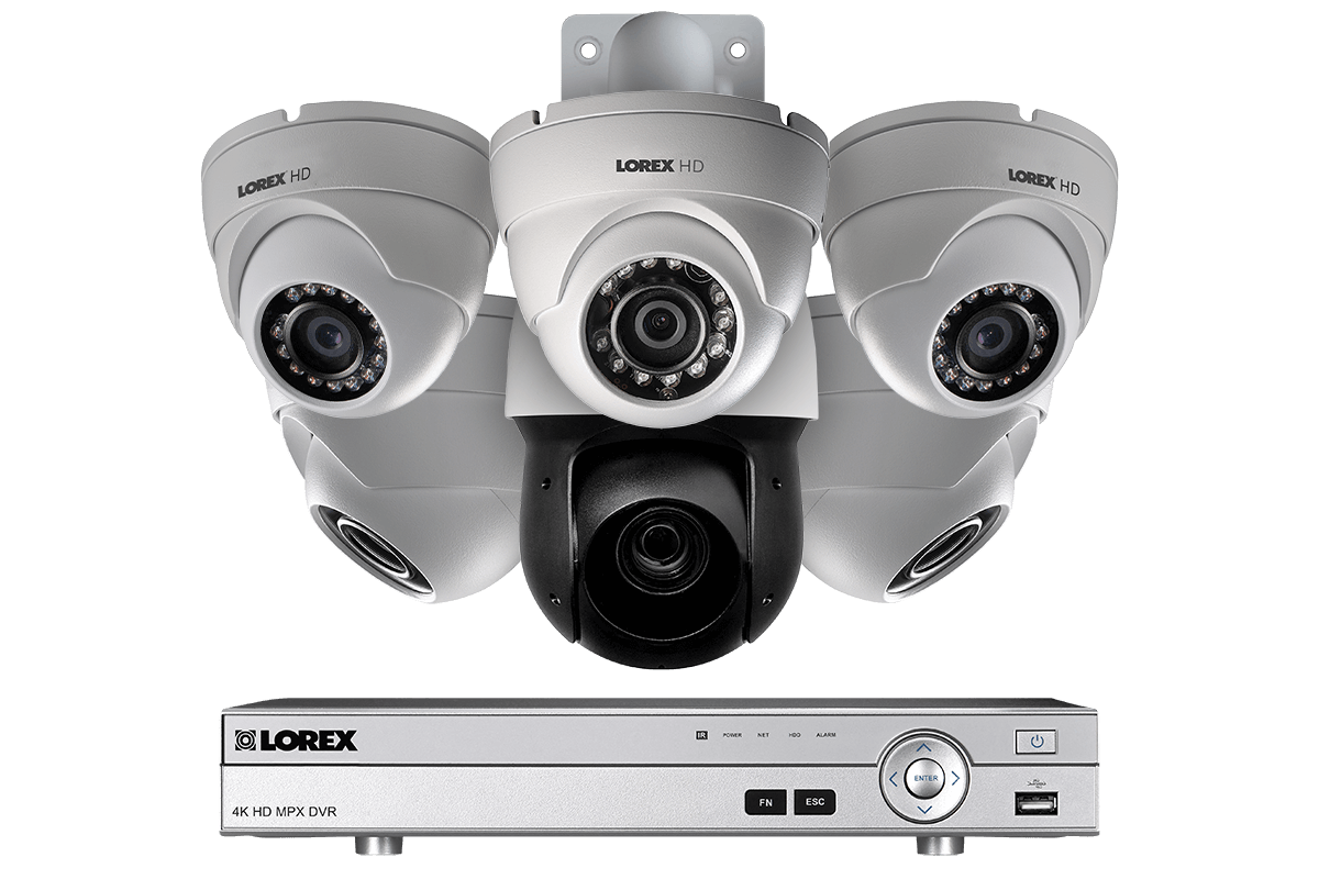Cctv Home Hd Cctv Security System With 1080p Dome Cameras And 720p Ptz Camera