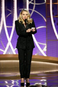 77th ANNUAL GOLDEN GLOBE AWARDS -- Pictured: Kate McKinnon at the 77th Annual Golden Globe Awards held at the Beverly Hilton Hotel on January 5, 2020 -- (Photo by: Paul Drinkwater/NBC)