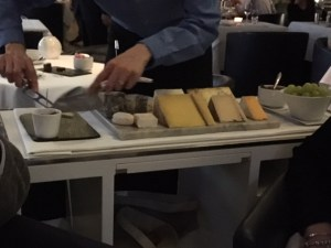 Incredible cheese trolley at OXO Tower Restaurant in London