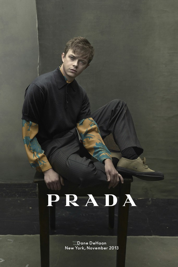 Prada with Annie Leibovitz and Dane Dehaan for Men's Spring Ad