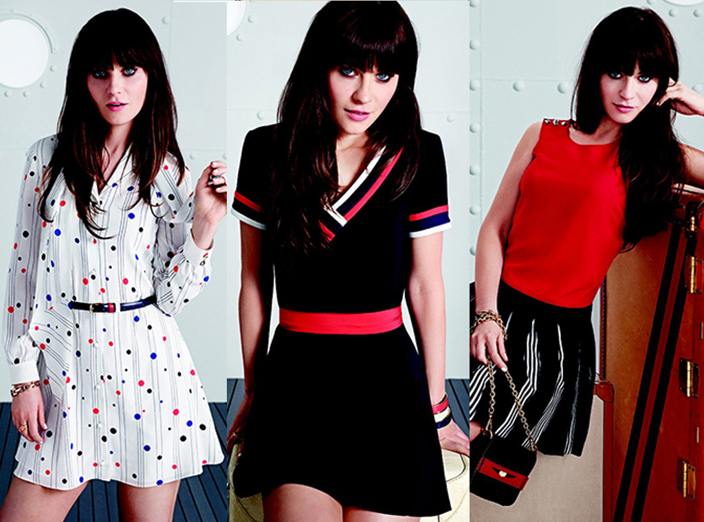 Zooey Deschanel and Tommy Hilfiger