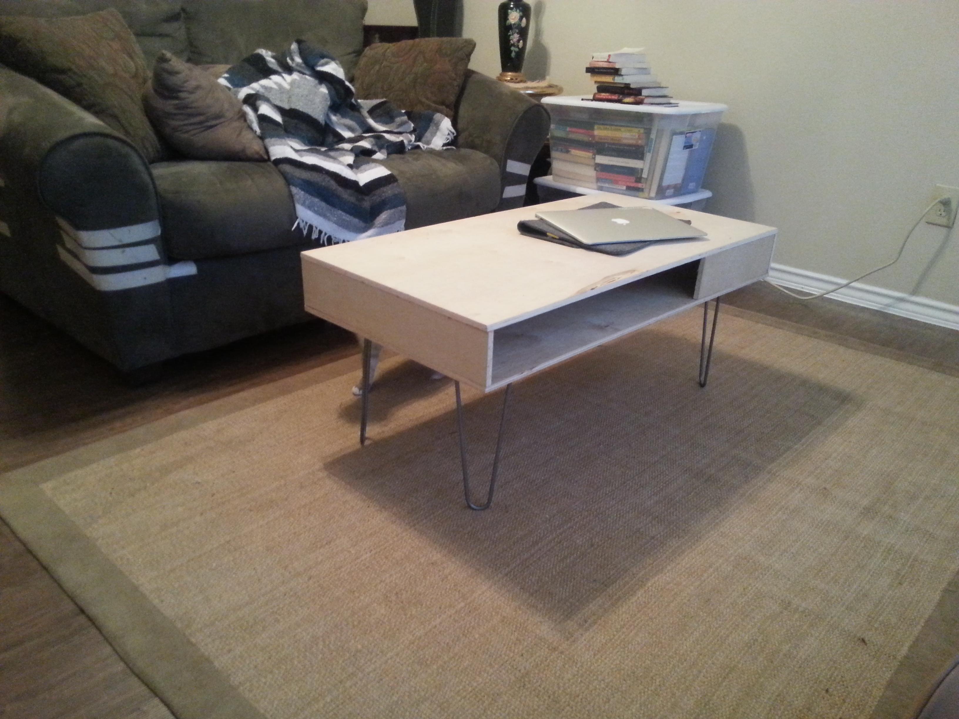 DIY Midcentury Modern Coffee Table