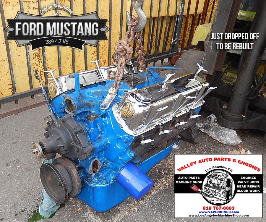 Ford Mustang 289 47 V8 Remanufactured Engine - Los Angeles Machine
