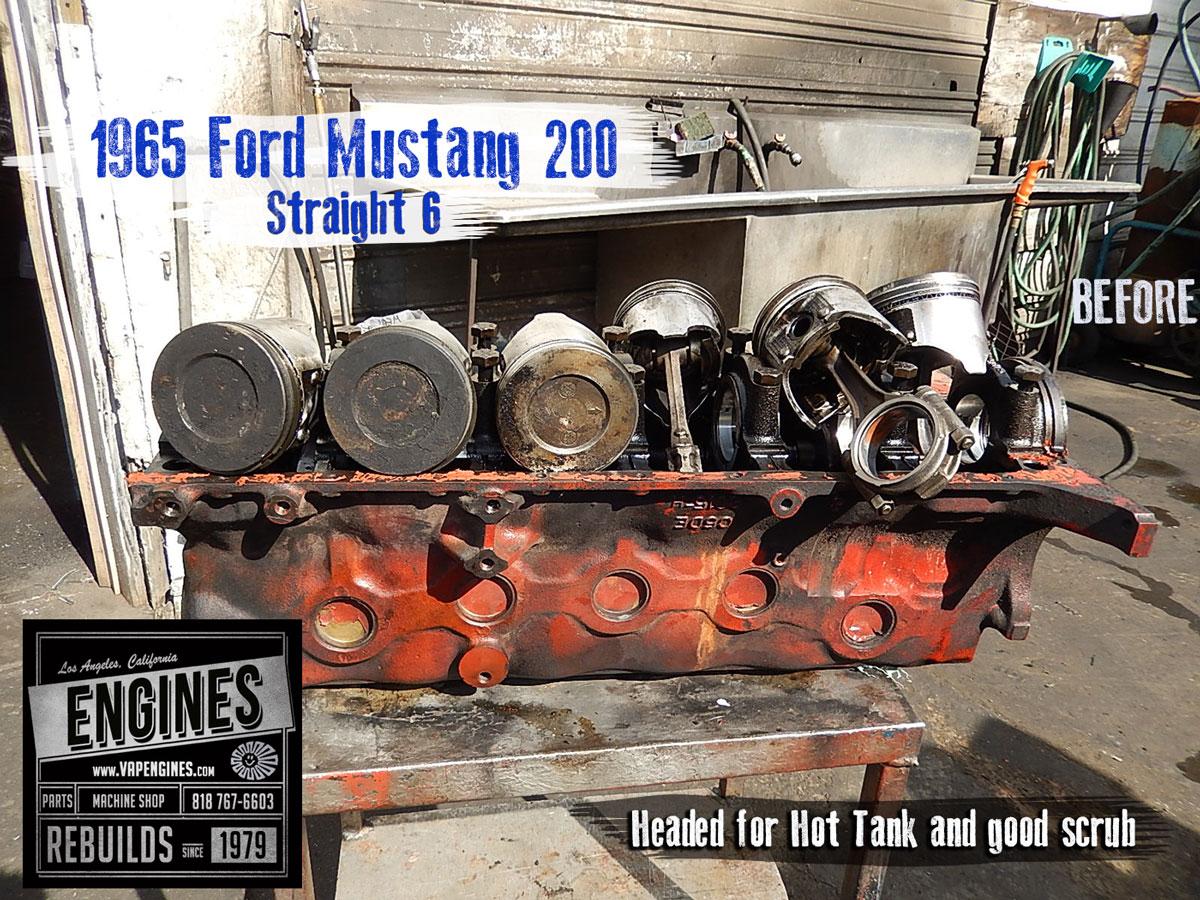 65 ford mustang 200 i6 remanufactured engine los angeles. Black Bedroom Furniture Sets. Home Design Ideas