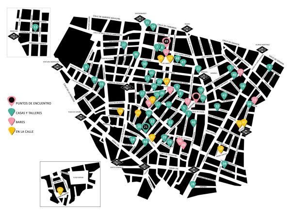 Mapa Los Artistas del Barrio Chueca y Malasaña 2017