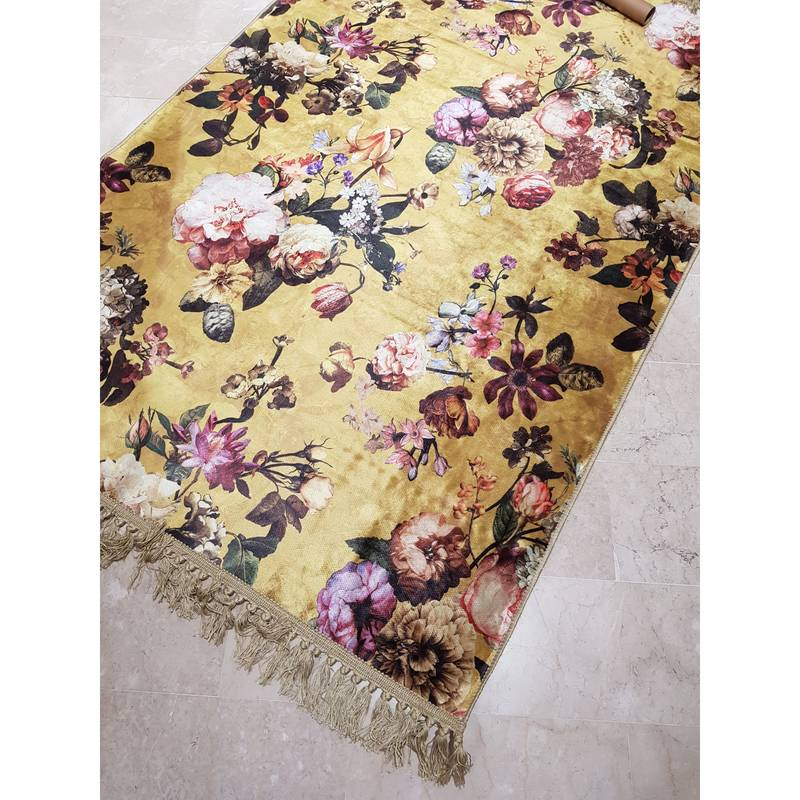 Tappeto Shabby Beige Essenza Tappeti Shabby Tappeto Velluto Serie Fleur Colore Yellow