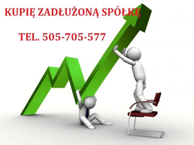 kupię zadłużone spółki z o.o. tel 505 705 577