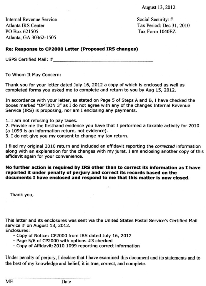 Every Which Way But Loose - irs complaint form