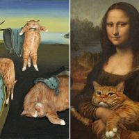 Fat Cat In Classic Art