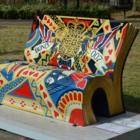 Bench Sculptures Highlight Literacy in London