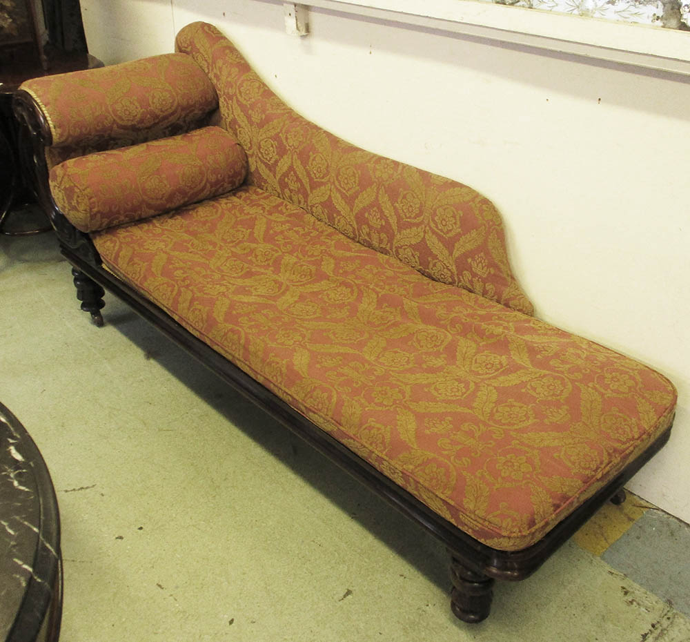 La Chaise Longue Catalogue Chaise Longue William Iv Rosewood Framed With Red And Gold Leaf