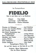 Fidelio 1929 with Schalk