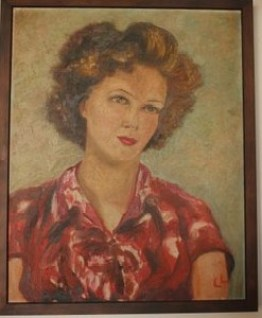 LL's painting of her friend Patti Klever