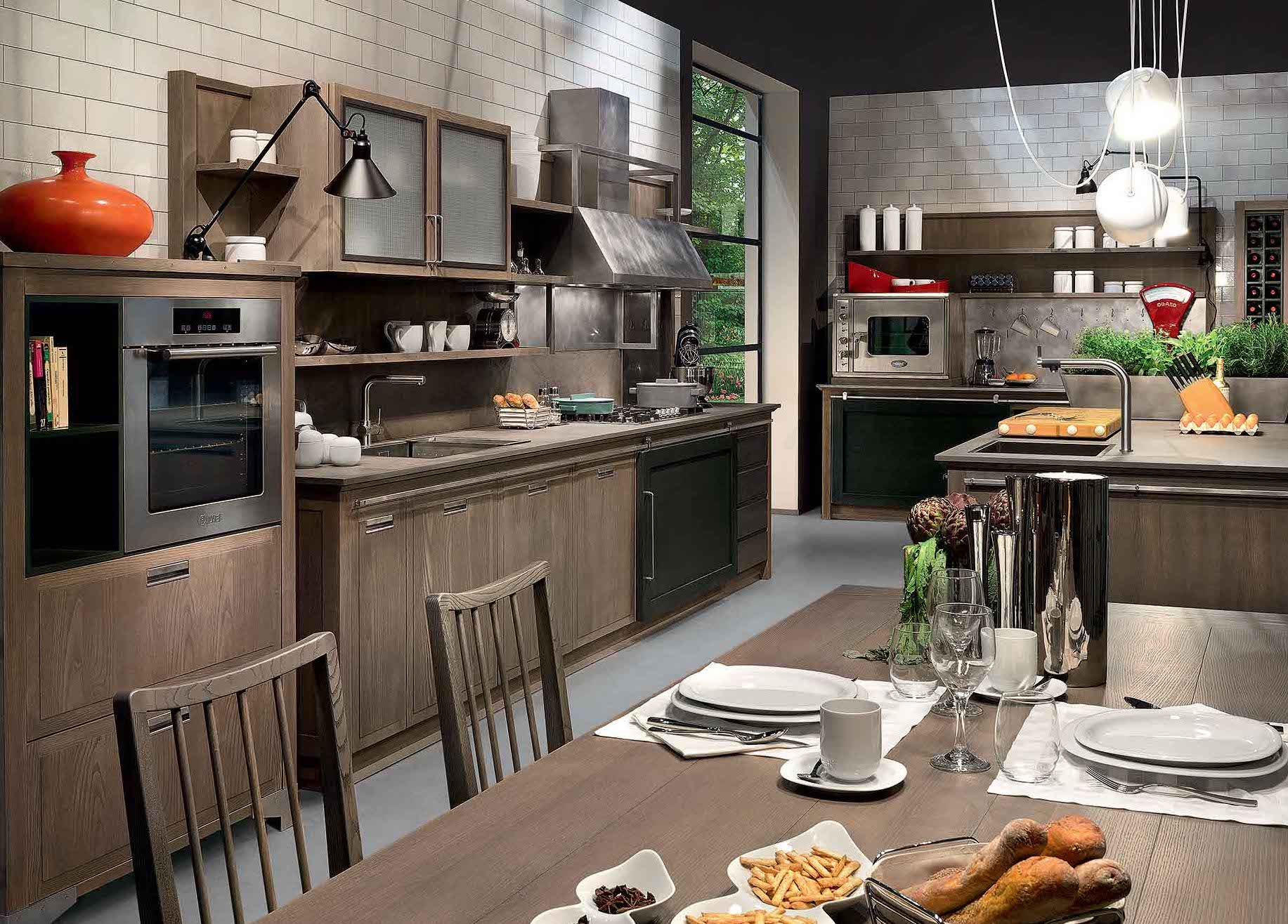 Cucina Stile Industrial Chic | Country French Kitchens Traditional Home