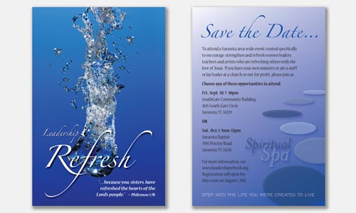 Save the Date Postcard Design Sample