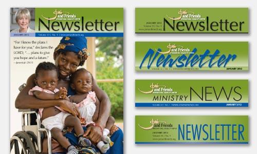Newsletter Masthead Design Samples for Review