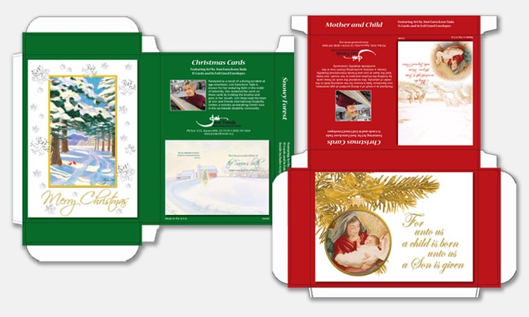 Christmas Card Box Design Sample