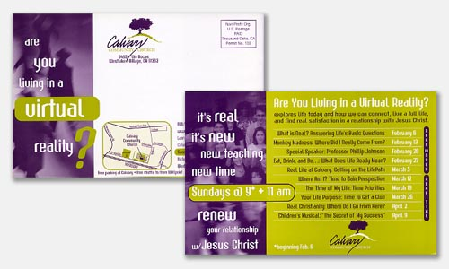 Two Color Printing Ideas Flyer Design and Postcard Design