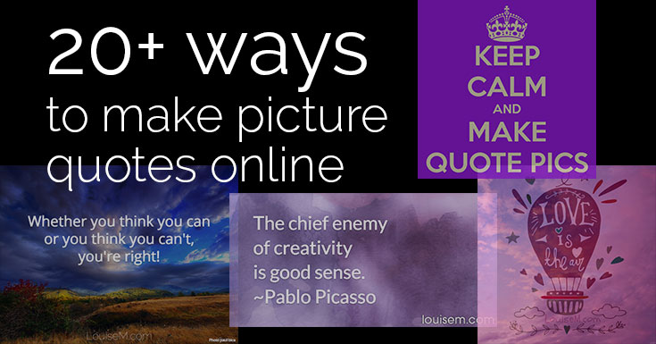 20+ EASY Ways to Make Picture Quotes Online