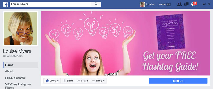 Ingenious! Facebook Cover Photo Mobile/Desktop Template