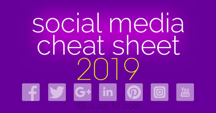 Social Media Cheat Sheet 2019 Must-Have Image Sizes!