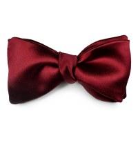 Deep Red Silk Satin Bow Tie | LOUISE & ZAID