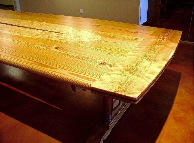 Comfortable Custom Handmade Heart Pine Sabine River Conference Table - Handmade conference table