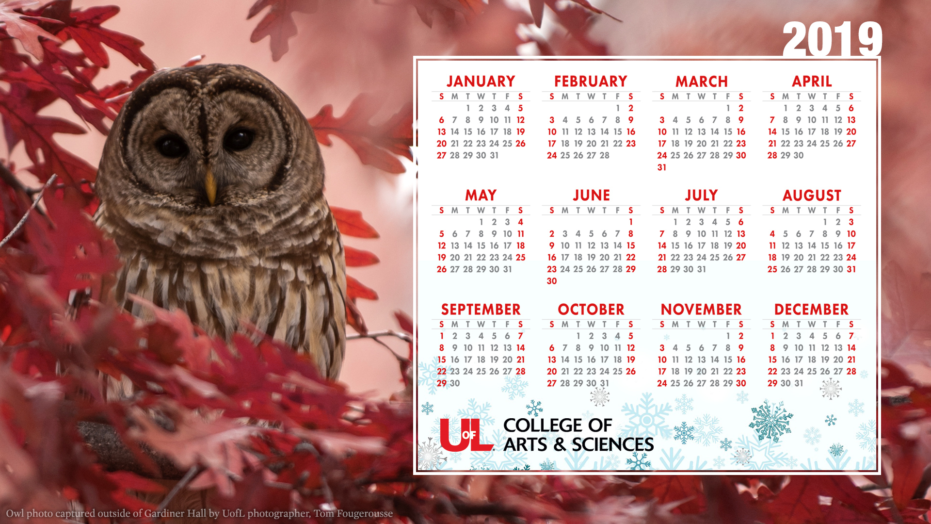 Wallpaper Louisville 2019 Holiday Calendar Desktop Wallpaper College Of Arts Sciences