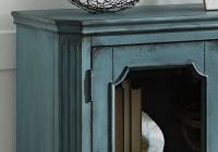 Mirimyn Antique Teal Door Accent Cabinet | Louisville ...