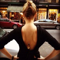 BACKLESS DEEP CLEAVAGE NECKLACE
