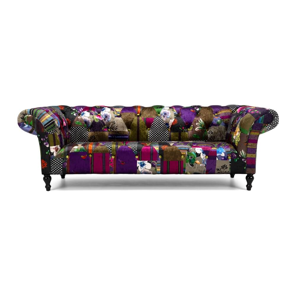 Patchwork Sofa Love Seat Patchwork 3 Seater Sofa