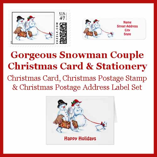 Vintage Christmas Postage Stamps  Matching Stationery Lou\u0027s Designs - how to address christmas cards