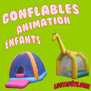 Gonflables d'animation enfants