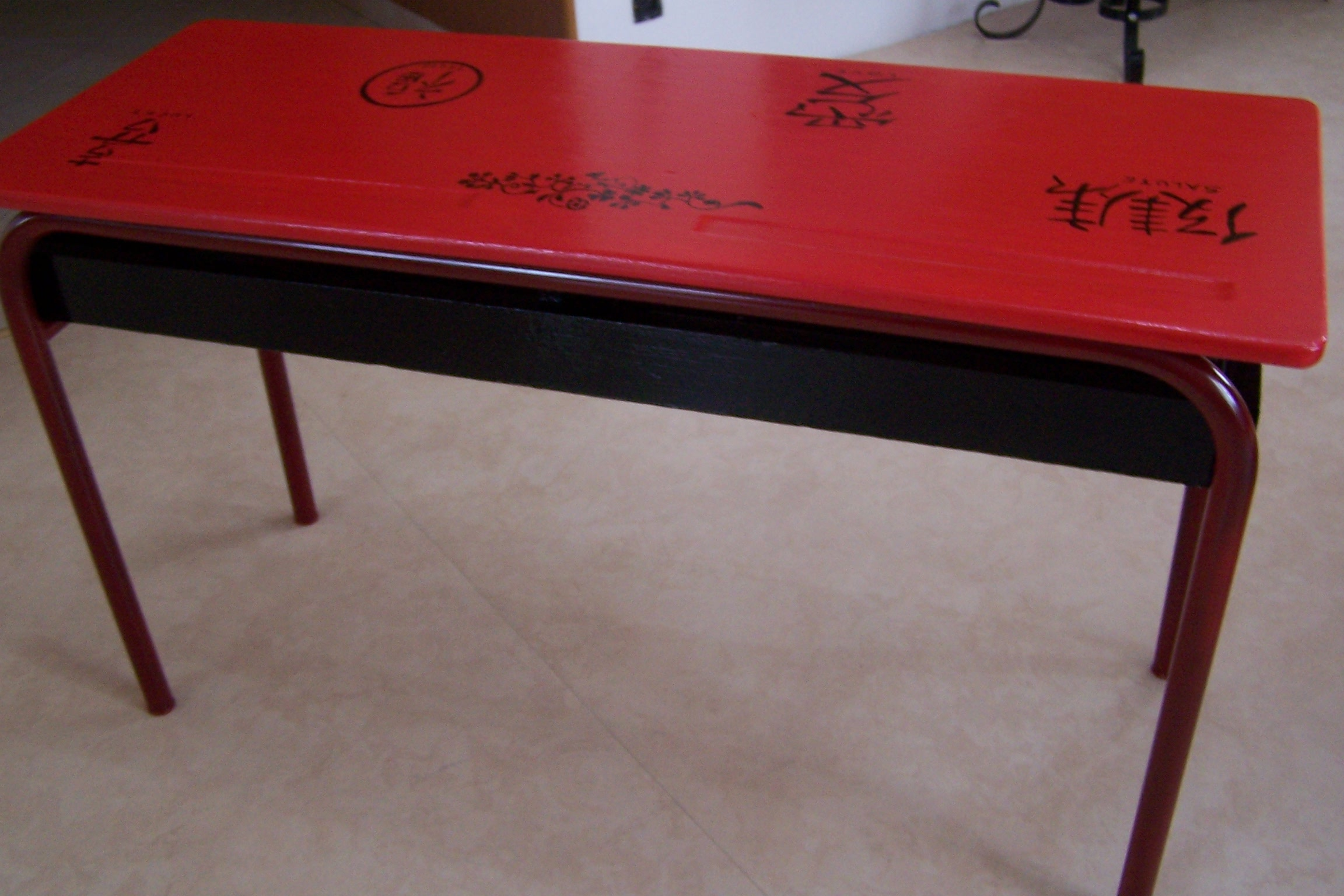 Table Rouge Chinois Table Chinoise