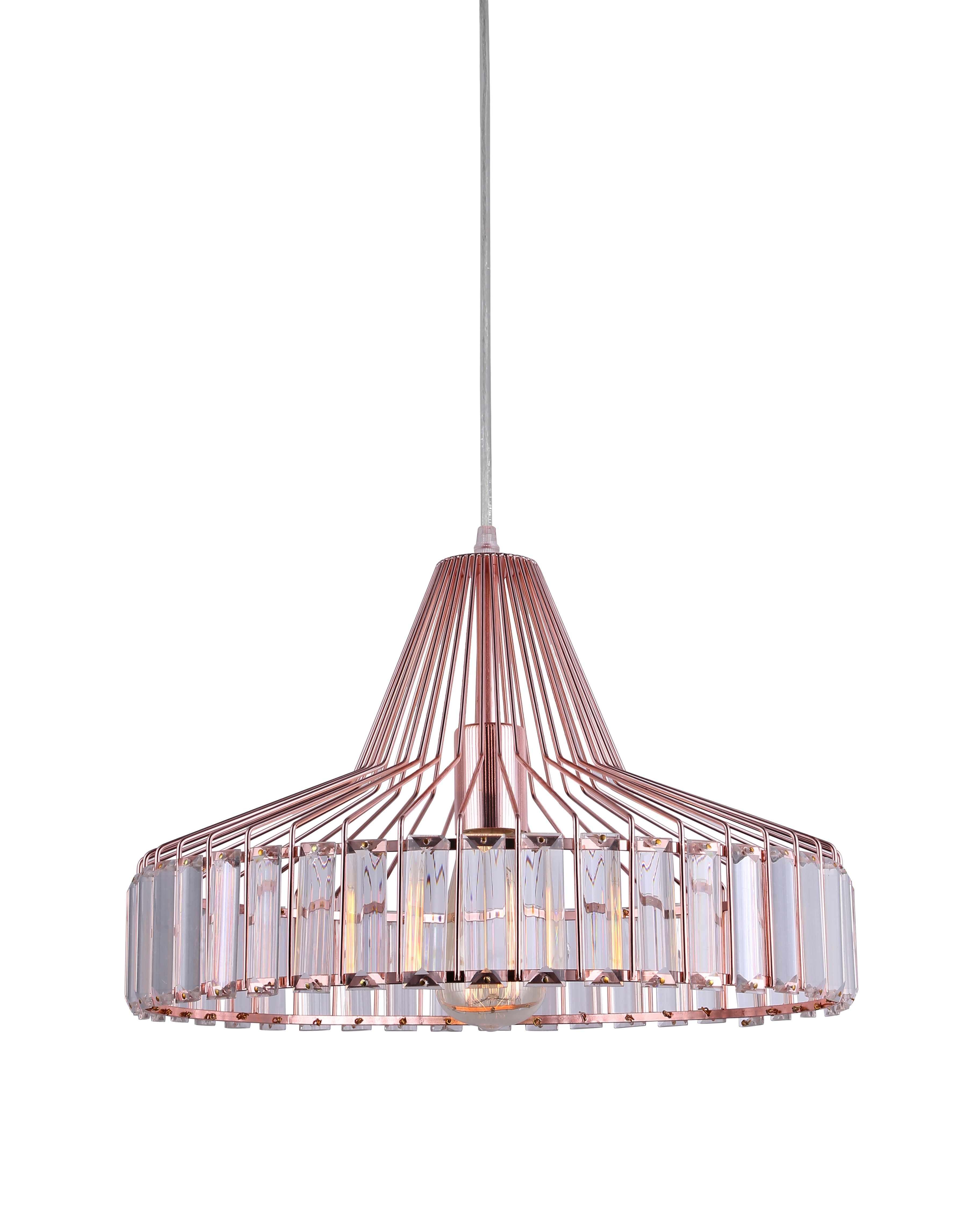 Luminaire Cuivre Rose Suspension New Light And Dzign