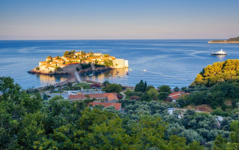 credits: Sveti Stefan by Leonidtit/can stock photo