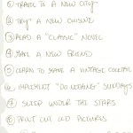 Love Lists: Birthday Goals List