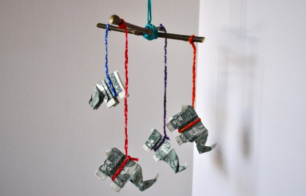 origami money mobile