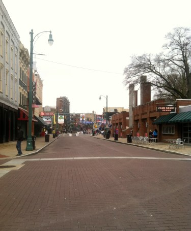 Beale St. in the morning