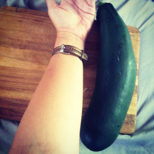 Zucchini bigger than my forearm!